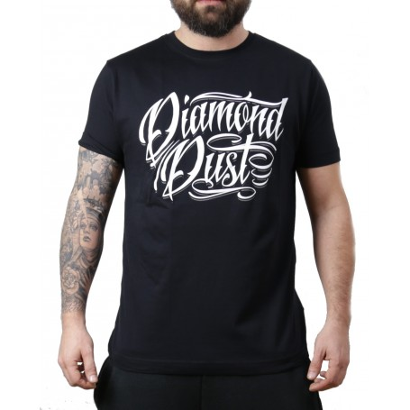 T-Shirt Tattoo Letter Homme Noir