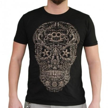 T-shirt Diamond dust Homme Meka Skull Tête de mort