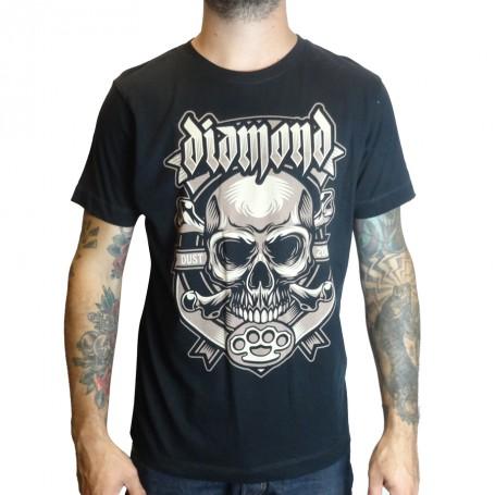T-Shirt Blaze Skull Noir