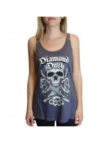 T-Shirt Diamond Dust Kniff Girl Gris Bleu