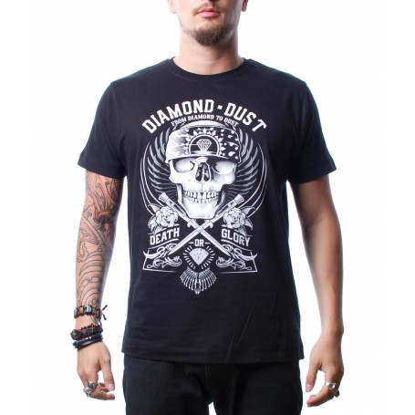 T-Shirt Diamond Dust Hard Skull Black