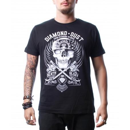 T-Shirt Diamond Dust Hard Skull Black