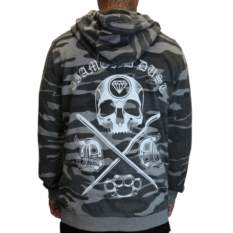 Hoodies Camo Grey
