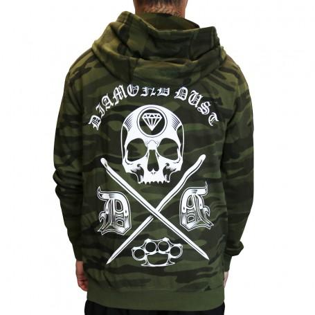 Hoodie Cross Skull Camo Jungle