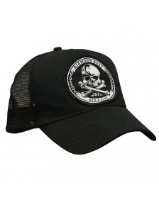 Cap Trucker Skuly Black