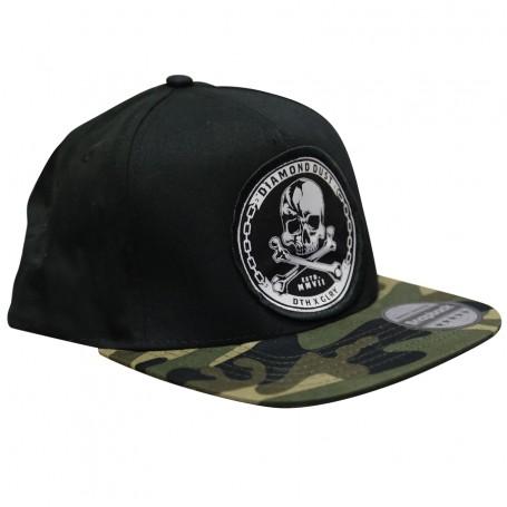 Cap SnapBack Skuly Camo Black