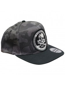 Cap Snap Skuly Grey Camo Black