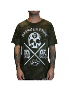 T-Shirt Cross Camo Green