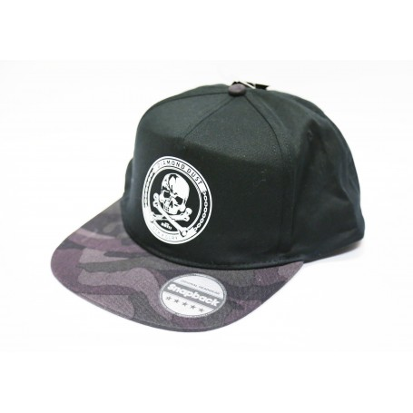 SnapBack Skully Black/Dark Camo