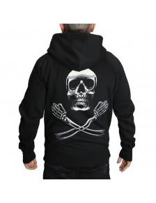 Hoodie Pirate Skull boy Zip